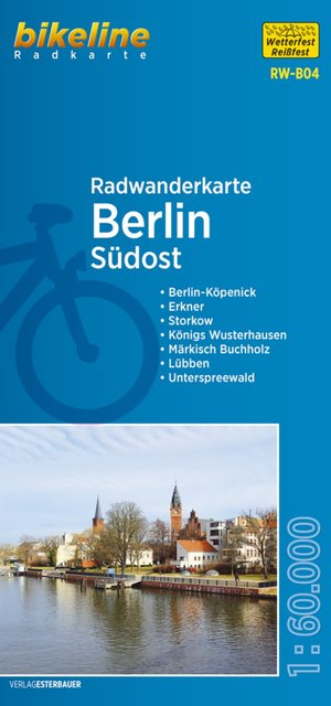 Berlijn Zuidoost fietstourkaart