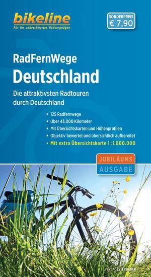 Deutschland Radfernwege Attraktivsten Radtouren + Map