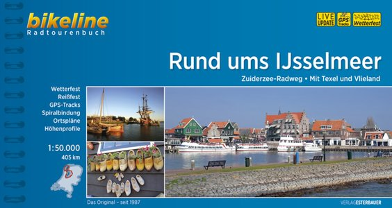 Ijsselmeer rund ums Zuiderzee-Radweg. Mit Texel und Vlieland GPS