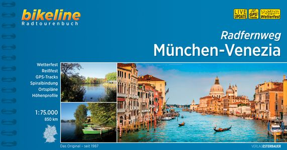 München - Venezia Radfernweg Bikeline fietsgids