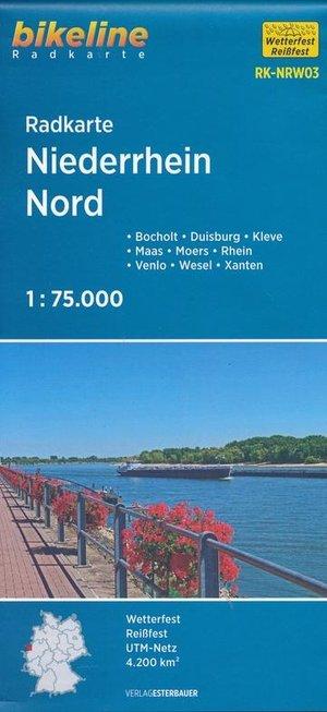 Niederrhein Noord fietskaart