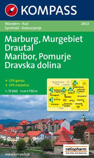 Kompass WK2802 Maribor, Marburg, Pomurska, Drautal