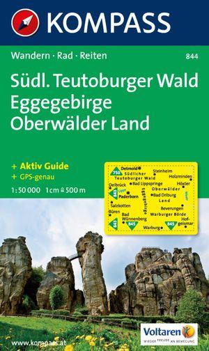 Kompass WK844 Südlicher Teutoburger Wald, Eggegebirge, Oberwälder Land