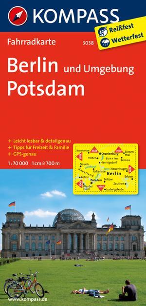 Kompass FK3038 Berlin und Umgebung, Potsdam