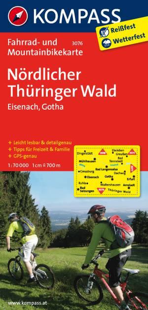 Kompass FK3076 Nördlicher Thüringer Wald, Eisenbach, Gotha