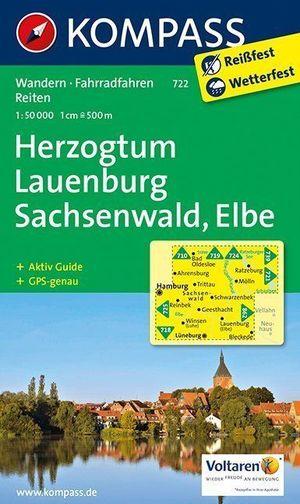 Kompass WK722 Herzogentum Lauenberg Nord, Sachsenwald, Elbe