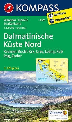 Kompass WK2901 Dalmatische kust Noord