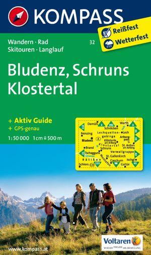 Kompass WK32 Bludenz, Schruns, Klostertal