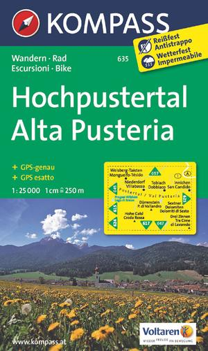 Kompass WK635 Hochpustertal / Alte Pusteria