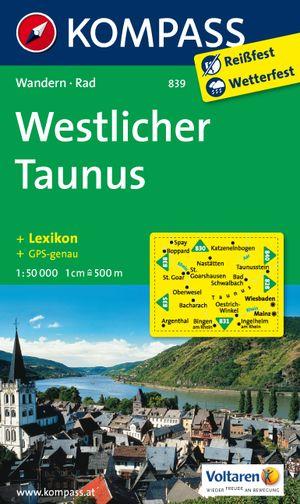 Kompass WK839 Westlicher Taunus