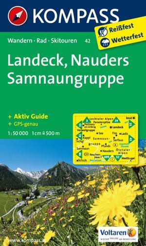 Kompass WK42 Landeck, Nauders, Samnaungruppe