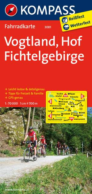 Kompass FK3081 Vogtland, Hof, Fichtelgebirge