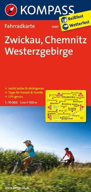 Kompass FK3087 Zwickau, Chemnitz, Westerzgebirge