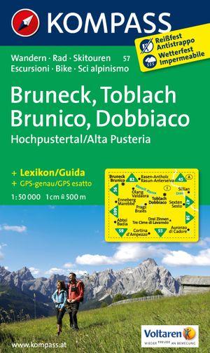 Kompass WK57 Bruneck, Toblach, Hochpustertal