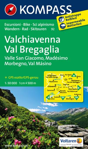 Kompass WK92 Valchiavenna, Val Bregaglia