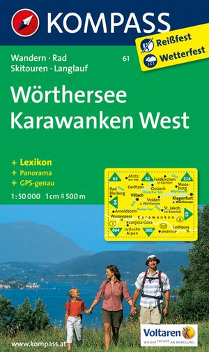 Kompass WK61 Wörthersee-Karawanken West