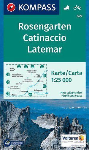 Kompass WK629 Rosengarten, Latemar