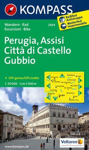 Kompass WK2464 Perugia, Assisi, Citta di Castello, Gubbio