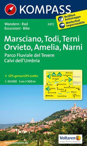 Kompass WK2472 Marsciano, Todi, Terni, Ameli, Narni