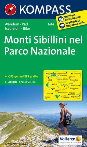 Kompass WK2474 Monti Sibillini