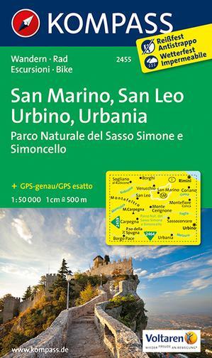 Kompass WK2455 San Marino, San Leo, Urbino