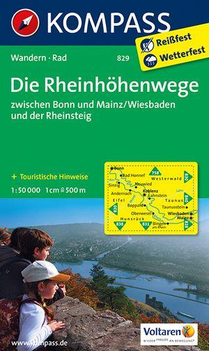 Kompass WK829 Die Rheinhöhenwege Bonn-Mainz, Wiesbaden und der Rheinsteig