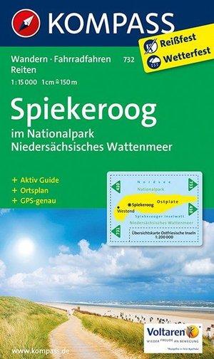 Kompass WK732 Spiekeroog im Naturpark Niedersächsisches Wattenmeer