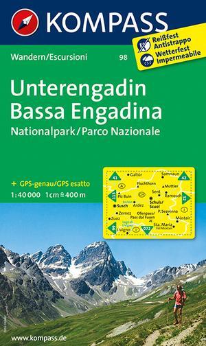 WK98 Unterengadin / Bassa Engadina, Nationalpark wandelkaart