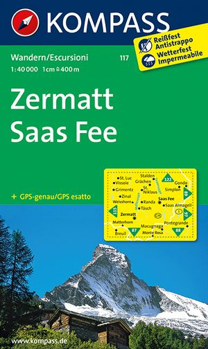 Kompass WK117 Zermatt, Saas Fee