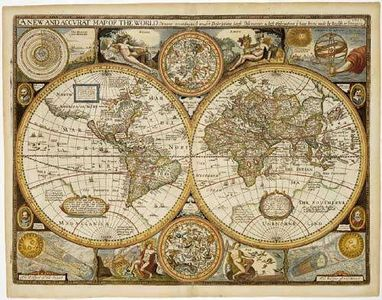 World Antique 1651 wall map