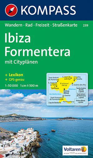 Kompass WK239 Ibiza, Formentera wandelkaart