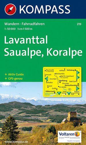 Kompass WK219 Lavanttal, Saualpe, Koralpe
