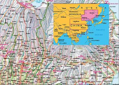 China Northeast Nelles Map