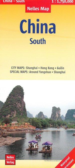 China Zuid Hong Kong Centraal-Macau wegenkaart
