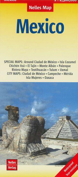 Mexico, Guatemala, Belize, El Salvador wegenkaart