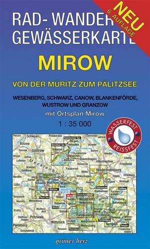 Waterkaart Mirow Muritz Palitzsee