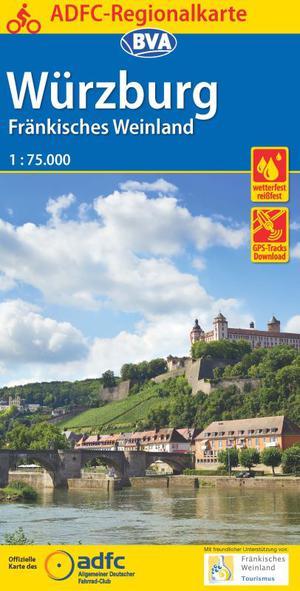 Würzburg / Fränkisches Weinland fietskaart