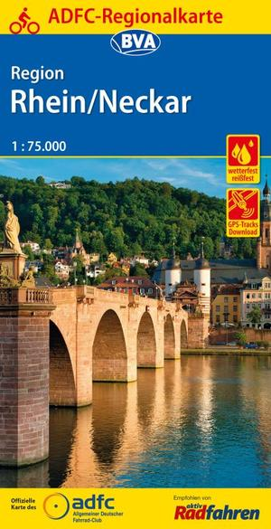 Rhein / Neckar Region fietskaart