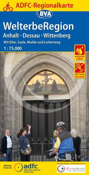 Anhalt, Dessau, Wittenberg - WelterbeRegion fietskaart