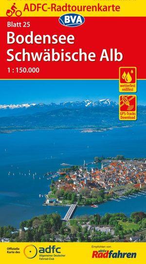 Bodensee / Schwäbische Alb fietskaart