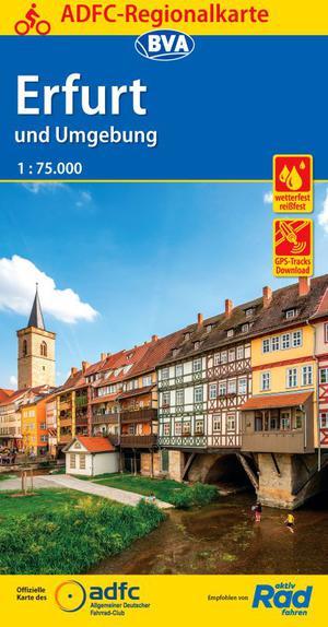 Erfurt en omg. fietskaart