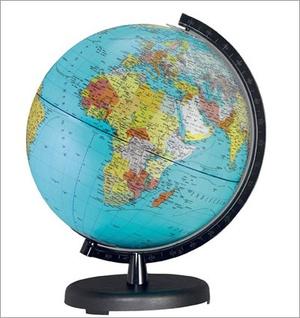 Terra Globe 26cm Nl Blauw Staatkundig