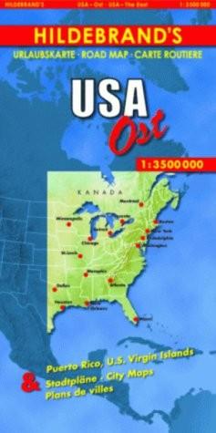 Usa East Map 1:3.500.000 Hildebrand