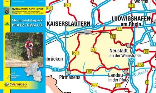 Mountainbikepark Pfalzerwald 1:50.000