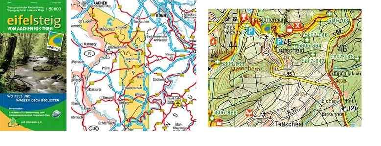 Eifelsteig Von Aachen Bis Trier 1:50.000 wandelkaart