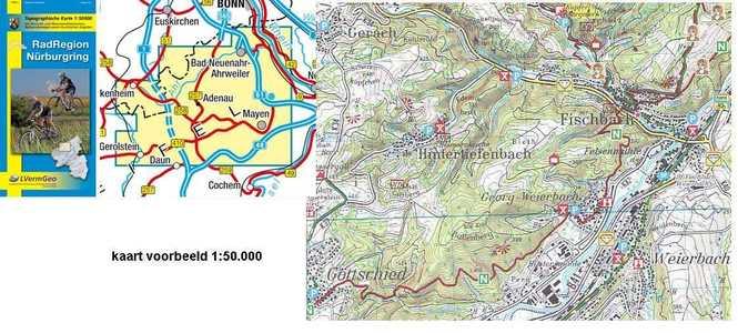 Radregion Nurburgring, Radkarte 1:50.000