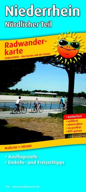 Lower Rhine North 166 Bicycle Map Gps