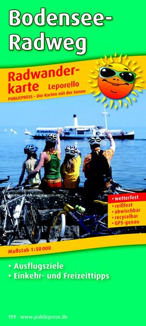Bodenseeradweg 199 Leporello Bicycle Hik