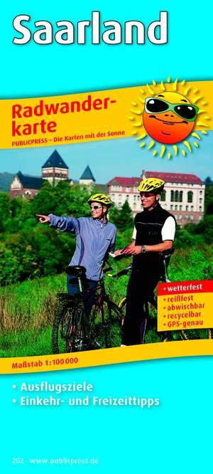 Saarland 202 Bicycle Map Gps