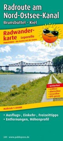 Radwanderkarte Radroute Nord-ostsee-kanal 1:50.000 Publicpress 249